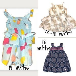 Baby Girl Dresses and Romper 12-18 months
